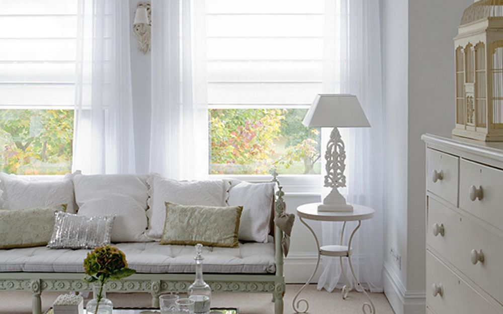 luxe layering cheap window blinds