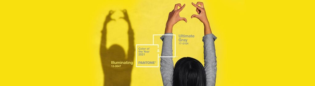 Pantone Colour of the year ultimate grey and illuminating yellow