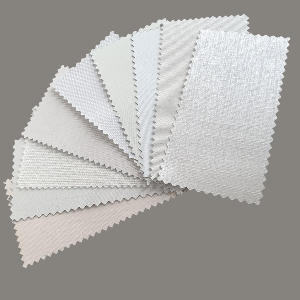 White Roller Blind Fabric Samples